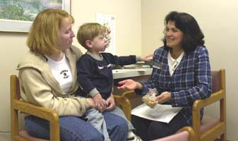Mikey and his mother meet a genetic counselor